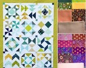 Club 10 HST Block of the Month Quilt Facebook Monthly Quilt-Along USA Kaffe Fassett Collective Wovens BOM Fabric Block Kit Pattern Sew Fun