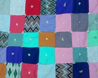 Vintage Colorful 70s Patchwork Quilt
