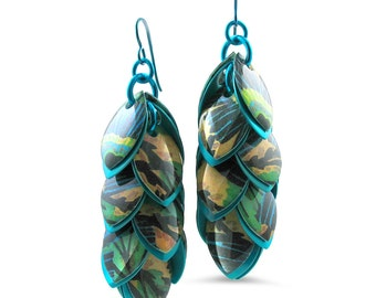Tropical Turquoise Shoulder Duster Earrings Ready to Ship
