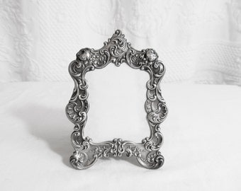 Gorham Silver Picture Frame Ornate Floral Roses EP