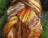 Handpainted handspun Yarn kit bundle, three skeins OOAK, bulky Merino, Mohair, Bamboo -Aunt Dot