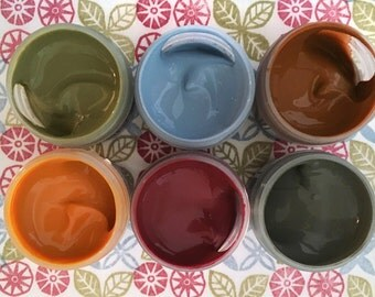Fabric Paint Set - Soft Tones - Starter Set - Fabric Printing - Six Custom Colors