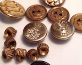 14 Vintage assorted Sewing Buttons