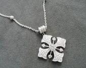 Beautiful Sterling Maltese Crucifix / Cross on Magnetic Closure Necklace, Joseph Esposito Diamonique