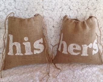 His and Hers, Set of 2 Dollar Dance Bags, Mr and Mrs, Bride and  Groom, Gift For Couple, Personalized Wedding Gift Under 50, Burlap Wedding