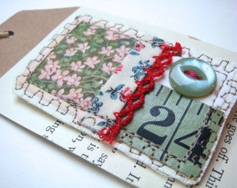 Fabric Collage Brooch