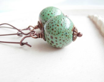 Speckled Green Earrings