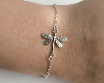Dragonfly Bracelet in Sterling Silver