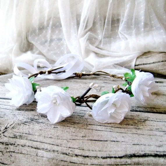 Flower crown, Rustic wedding crown, hair accessories, Bridal headpiece, Floral accssories, woodland wreath C7