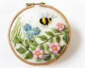 Felted Painting,Needle Felted landscape,Miniature Art