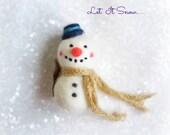 Christmas ornament, Snowman Ornament, Needle felted snowman, Needle felted Christmas Ornament