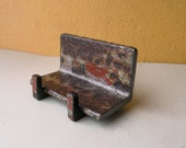 Desk Card Stand, Boyfriend Girlfriend Gift, Upcycled Phone Stand, Industrial Decor, Industrial Salvage, Upcycled Angle Iron, Desk Organizer