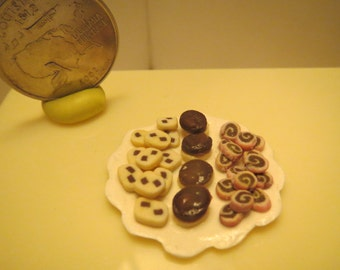 Cookie & Pastry Tray 1 inch scale Dollhouse Miniature Food