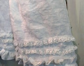 Linen Bloomers Ruffles and Lace
