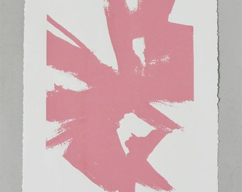Large Abstract Sketch #1 Print- Pink