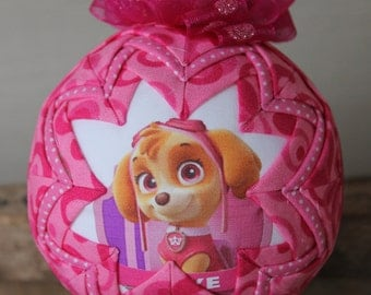 Paw Patrol Quilted Valentine's Gift Ornament  Skye