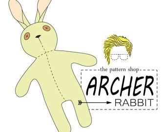 Archer Rabbit Stuffed Animal Sewing Pattern