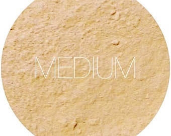 Medium Mineral Foundation  • Gluten-Free Makeup • Natural Mineral Makeup • Earth Mineral Cosmetics