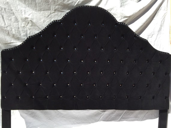 Items Similar To Black Velvet Extra Tall King Size Tufted