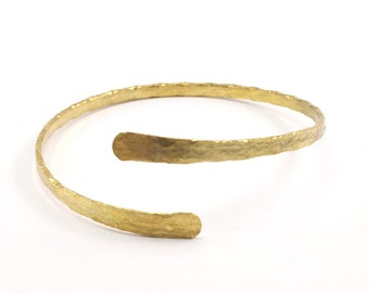 Brass Hammered Cuff - Raw Brass Cuff Bracelet Hammered Bangles (70x4mm) Brc047