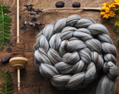 Merino Natural Undyed Wool Roving Combed Top Spinning or Felting Fiber Humbug Blended Top