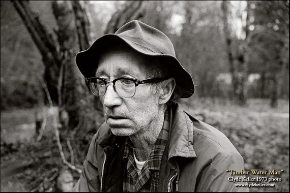 TIMBER WATER MAN, Portrait of Poverty, Clyde Keller photo, 1973, Fine Art Print, Black and White, Signed