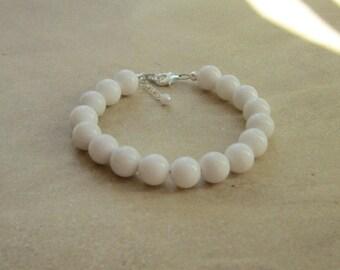 Chunky White Bracelet, Whiteout