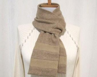 Gift for Men / Tan Men's Cashmere Scarf / Tan Winter Scarf / Tan Scarf / Tan Neck Warmer No847
