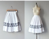 25% OFF : Nordica skirt | vintage 1950s skirt | cotton 50s skirt