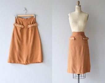 Five Spice skirt | vintage 1950s skirt | linen 50s skirt