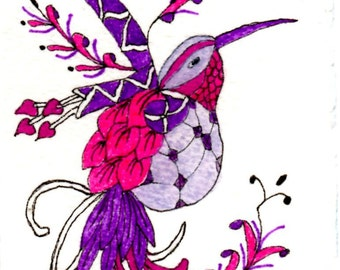 "ACEO Print ""Winged Fantasy"" by Elizabeth"