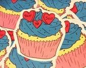 Treat yo self cupcake sticker