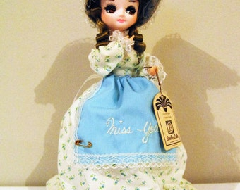 Bradley Doll 1960's Calico Blue 'Miss You'