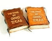 The  Book of Good Ideas. Pocket size Leather Journal.