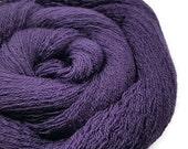 Plum - Merino Merino Lace Recycled Yarn - Purple Yarn - Lace Weight Yarn - Lot 110516