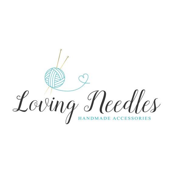 Knitting Logo Ideas : Knitting logo sewing crochet heart seamstress