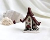Strawberry ruby red House of tiny fairies - Hand Made Ceramic Eco-Friendly Home Decor by studio Vishnya