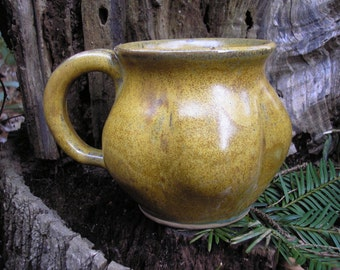 Gourd  Mug 16oz.,   glaze mug / tea mug/ coffee mug / sensuous feel, handmade pottery