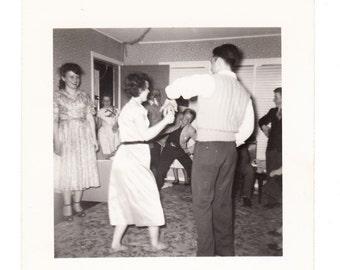 Dance Party vintage photo Man Woman 1950s snapshot