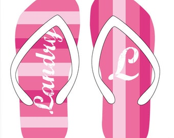 SOOOO PINK personalized flip flops in adult and kid sizes