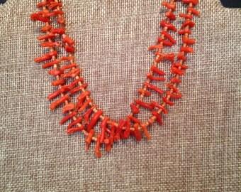Vintage Coral Choker