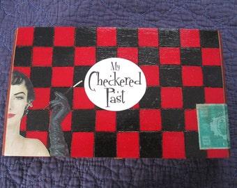 My Checkered Past upcycled cigar box