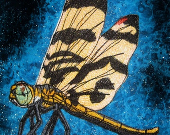Halloween Pennant Dragonfly Dragon fly Iron on Patch