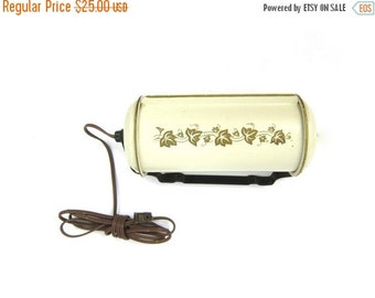 Vintage Art Deco Bullet Torpedo Headboard Reading lamp for Your Bed White with Gold Leaves Mid Century Night Lighting Decor Pull String Cord
