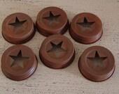 Rusty Star cut out mason jar Lid, mason jar, storage, Americana rusty star lids