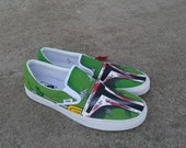 Boba Fett VANS - New Shoes Included - Made to Order - MENS / WOMENs -Star Wars
