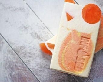 Satsuma, Citrus Scented Bar Soap, Olive Oil Soap, Infused Bar Soap, Handmade Soap, Orange Soap, Handcrafted Soap, Infused Soap