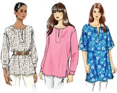 Vogue V8878 Sewing Pattern - Vogue Patterns Misses Tunic Sewing Pattern