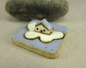 RESERVED for elizabethjones RESERVED MyLand -  Cumulus Inn - Collectible 3x3 cm or 1.2x1.2 in. puzzle in stoneware