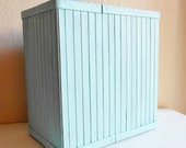 Turquoise Wooden Storage Box Trash Basket Plant Pot Umbrella Stand